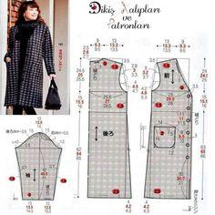 Dress Sewing Patterns, Sewing Patterns Free, Clothing Patterns, Sewing Clothes Women, Diy Clothes, Fashion Sewing, Diy Fashion, Sewing Blouses, Jacket Pattern