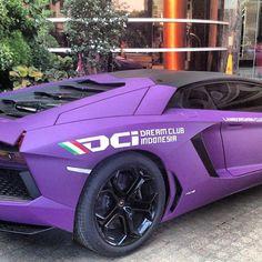 Purple dream car! Lamborghini Aventador! #dreamcar