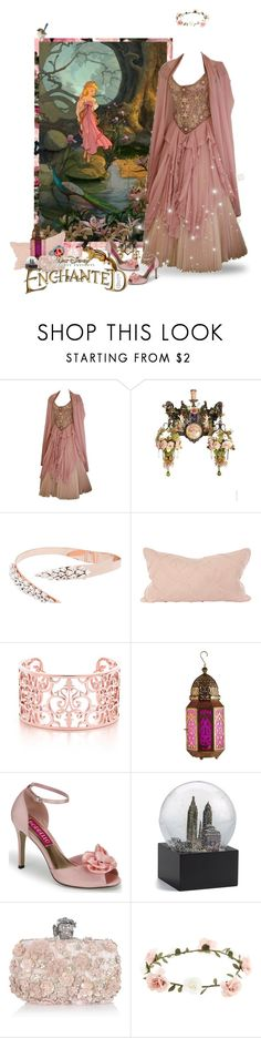 """Giselle Disney's Enchanted"" by autumnred ❤ liked on Polyvore featuring Disney, Michal Negrin, Ellen Conde, V Rugs & Home, Saks Fifth Avenue, Alexander McQueen, Accessorize, disney, Newyork and princess"