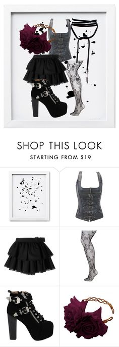 """""""Dark for Me, Sexy for Him."""" by yuukimehri7 ❤ liked on Polyvore featuring Alexander McQueen, Lane Bryant, Jeffrey Campbell and Rock 'N Rose"""