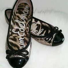 Sam Edelman Shoes - Sam Edelman Golden with Black Flats