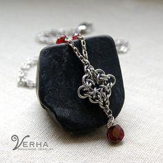 The Vampire Diaries jewelry / Elena Necklace / Garnet necklace