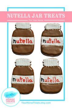 Nutella Pack of Horse Treats! Nutella Croissant, Nutella Puff Pastry, Horse Treats, Dog Treats, Chocolate Custard Recipe, Nutella Jar, Buy A Horse, Horse Cookies, Nutella Recipes