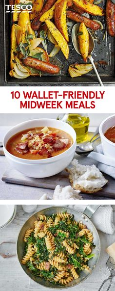 Save money with our affordable yet delicious dinner ideas – from pasta recipes to tray bakes and baked potatoes, these midweek meals won't break the bank. | Tesco