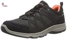 Ecco Light IV, Chaussures Multisport Outdoor Femme - Noir (BLACK01001), 41 EU