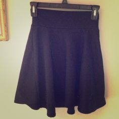 Black skater skirt Perfect to pair with tights, this circle/skater skirt is in great condition and looks great with nearly anything! A staple item for any closet Full Tilt Skirts Circle & Skater