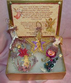 Look in the Nook: Vintage PINK Victorian Christmas Ornament Set