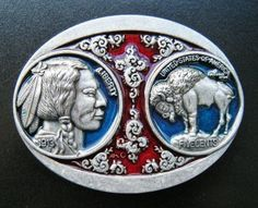 NEW INDIAN NATIVE NICKEL BUFFALO COIN METAL BELT BUCKLE BOUCLE CEINTURES 381d81279e1