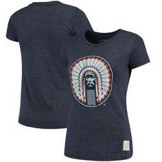 the best attitude 9d704 31a1b Illinois Fighting Illini Original Retro Brand Women s Tri-Blend Crew Neck  T-Shirt - Heathered Navy
