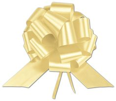Bows - Yellow Satin Perfect Pull Bows, 20 Loops, 5 1/2' (50 Bows) - BOWS-257-0520-4 *** Want additional info? Click on the image.