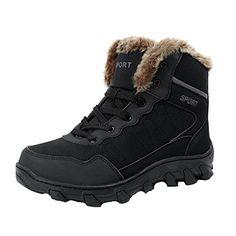 SALE PRICE $76.5 - Van'an Winter Outdoor Genuine Leather Warm Fur Non-Slip Waterproof Hiking Snow Short Boots