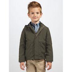 Buy Kin by John Lewis Boys' Hooded Jacket, Khaki Online at johnlewis.com