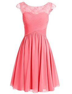 Dresstells® Short Prom Dress Scoop Bridesmaid Dress Chiffon Homecoming Gown Coral Size 2 Dresstells http://www.amazon.com/dp/B0196H548U/ref=cm_sw_r_pi_dp_9I63wb1YBC40K