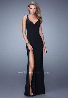La Femme Long Fitted 21291 Dress - $298