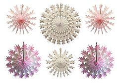 White Devra Party 6-Piece Tissue Paper Snowflakes 15-22 Inch