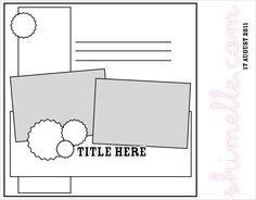 from shimelle.com #scrapbook #sketch