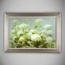 'Hydrangea Garden' by Danhui Nai Framed Painting Print on Wrapped Canvas