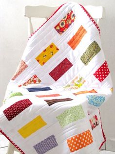 Baby Quilt -love the binding!!!!