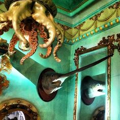 interior of Obscurities Antiques in NYC...creepy, but I love it