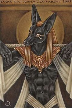 Anubis  The Egyptian God Anubis    Name: Anubis    Gender Male: Anubis was a God    Depiction / Description / Symbol: Anubis was depicted with the body of a man and the head of a Jackal    Jurisdiction: Anubis was described as being God of the Dead, Tombs and Embalming    Mythical Family or Relatives: Anubis was believed to be the son of the God Osiris and the Goddess Nephthys
