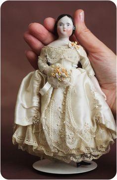 antique bisque doll dress - Google Search