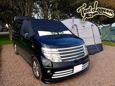 camping with a black out blind by fuel lagoon. A screen cover with eyes is the perfect accessory for a camper van Nissan Elgrand, Angry Eyes, Fun Prints, Camper Van, Bag Storage, Blind, Print Design, Camping, Colours