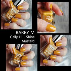 MichelaIsMyName: NOTD // BARRY M Gelly Hi - Shine Mustard