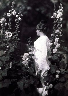 John G. Bullock (1854-1939), Marjorie in the Garden, ca. 1903, platinum print(from theshipthatflew)