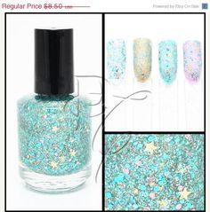 SALE NEW Beauty & The Beach Nail Polish Custom-Blended Glitter - Large Bottle - 15ml. $5.10, via Etsy.