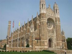 Exterior of Rosary Cathedral in Toledo, Ohio.