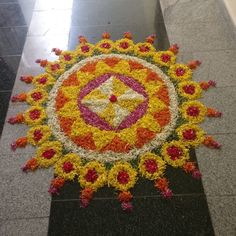 Rangoli Designs Latest, Rangoli Designs Flower, Latest Rangoli, Rangoli Ideas, Rangoli Designs Images, Rangoli Designs Diwali, Flower Rangoli, Diwali Decorations At Home, Tent Decorations