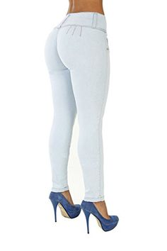 6f6c000b345 The Slimming Curvify Stretch Jean: a High Waisted Butt Lifting Skinny Jeans  for Women at Amazon Women's Jeans store