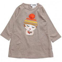 Rykiel Enfant Baby Girls Beige Cotton Tunic Top at Childrensalon.com
