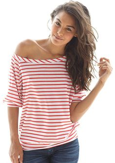 Off-Shoulder Tee - Plus size - super cute and under $5