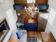 Spacious two-bedroom tiny house is fit for a small family