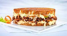 Sriracha Barbecue Gorgonzola and Chicken Sandwich