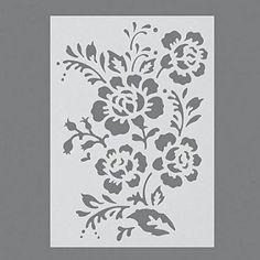 Stencils, Pochoir de Haie Rose/1pièces universelle, DIN A 5