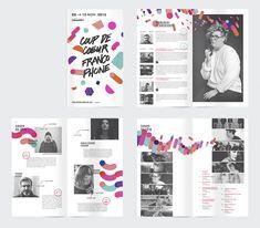 Akufen plays with shapes and colors for the Coup de cœur francophones Festival's identity.