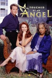 Monica (Roma Downey) Tess (Della Reese) and Andrew (John Dye) from: 'Touched by an Angel. John Dye, Della Reese, Roma Downey, Mcleod's Daughters, Touched By An Angel, Real Angels, Tv Show Casting, Family Tv, Old Tv Shows