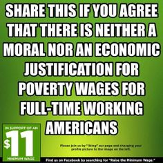 No, it's more than that. Poverty wage is poverty wage, regardless of whether it's part-time or full-time. Wage is a wage!