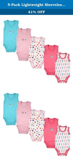 5-Pack Lightweight Sleeveless Bodysuits in Pink, 24 months. Our basic Luvable Friends 5-Pack Sleeveless Bodysuits are made of a soft and lightweight fabric to be gentle against baby's sensitive skin. Easy closure crotch makes for easy dressing. The seasonal design helps to keep baby cool and comfortable in warm temperatures! Perfect for wearing during the summer months or under clothes as undershirt in the cooler months! Available 3 color themes and white, sizes up to 24 months.