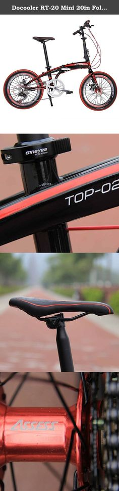 Docooler RT-20 Mini 20in Folding Bike SHIMAN0 7 Gears Portable City Sports Bike Mechanical Brakes. This 20in Folding Bike is your best choice for your sports and leisure life. SHIMAN0 shifter lever, derailleur and freewheel feature this high-end and stylish bicycle. Its foldable and portable design allows you to put it into the trunk of your car. And colors are optional: White, Black, Orange, Yellow. Just take it and enjoy cycling outdoors. Features: 20in mini folding bike. 12.5kg only. 7...