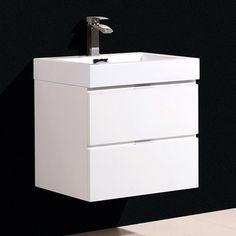 "Found it at Wayfair - Bliss 24"" Single Wall Mount Modern Bathroom Vanity Set"
