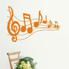 Large tv ofhead music wall stickers 58*28cm US $9.65