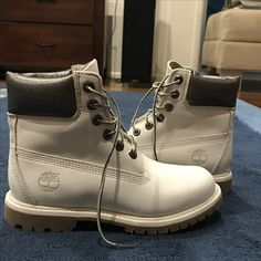 Grey/Charcoal Timberlands