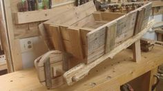 Image result for how to build a wooden wheelbarrow planter from pallets