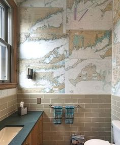 How to install maps as wallpaper: http://www.completely-coastal.com/2013/02/diy-maps-wallpaper.html