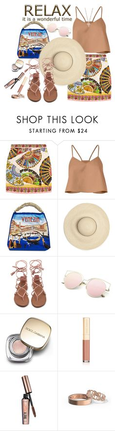 """""""Summer Sun"""" by juliehooper ❤ liked on Polyvore featuring Dolce&Gabbana, TIBI, Benefit and Seoul Little"""