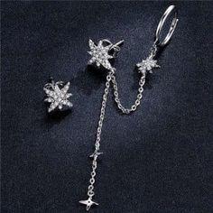 Wholesale Silver Jewelry, Sterling Silver Earrings, Stars, Sterne, Star
