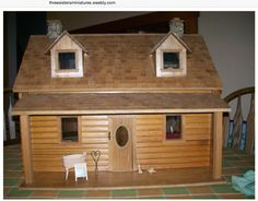 Dollhouse copy of Sully & Michaela's 2nd homestead. So creative. Would love to try this some day. Love the chicken on front porch